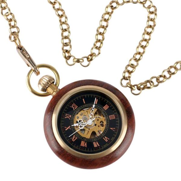 The Bedfordshire Wooden Mens Pocket Watches UK