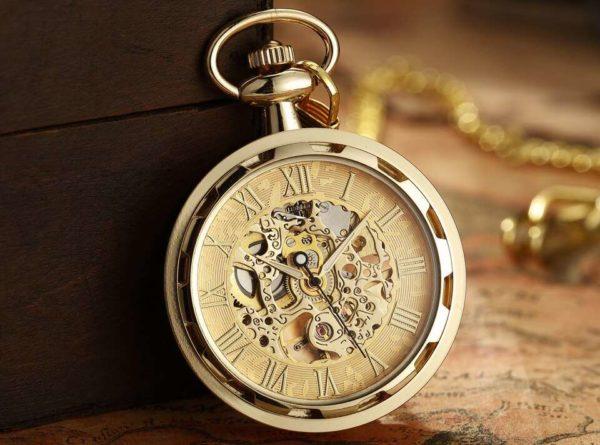 The Devon Gold Pocket Watch UK 1