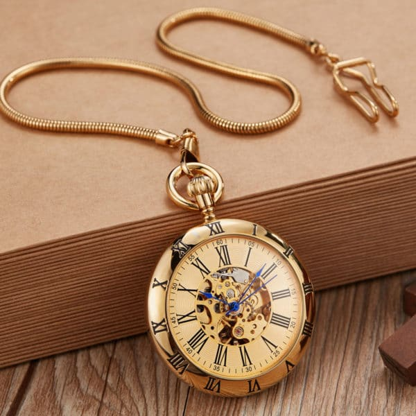The Hertfordshire Gold Open Face Pocket Watch UK 3