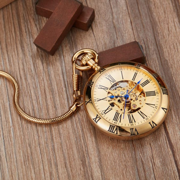 The Hertfordshire Gold Open Face Pocket Watch UK 4