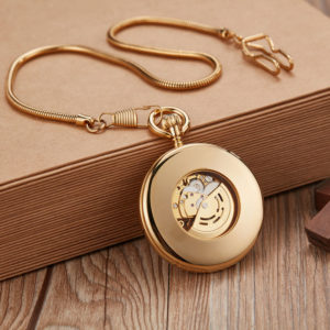 The Hertfordshire Gold Open Face Pocket Watch UK 5