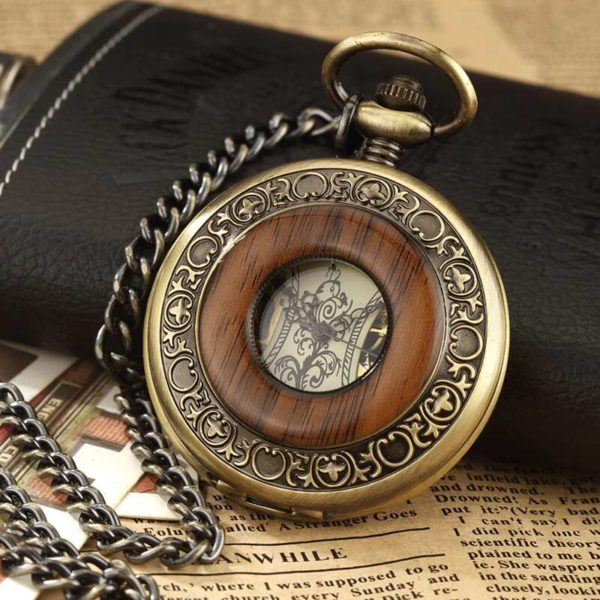 the hampshire wooden pocket watch uk