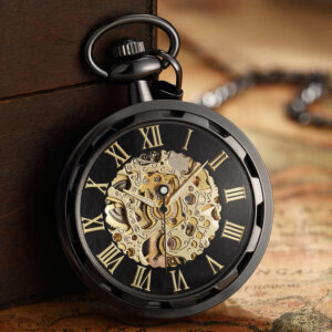 The Anglesey Black Pocket Watch UK 1