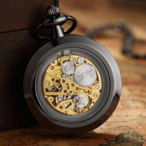The Anglesey Black Pocket Watch UK 2