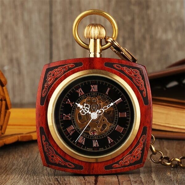 The Lincolnshire Mens Wooden Pocket Watch UK 1