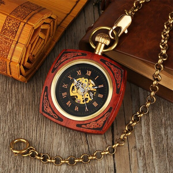 The Lincolnshire Mens Wooden Pocket Watch UK 3