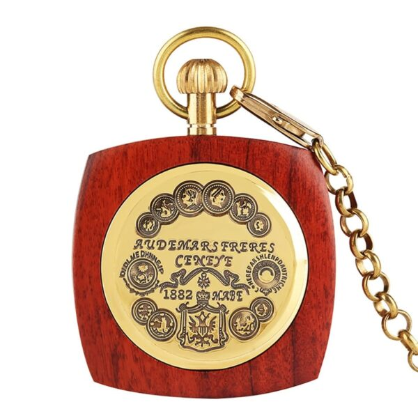 The Lincolnshire Mens Wooden Pocket Watch UK 4