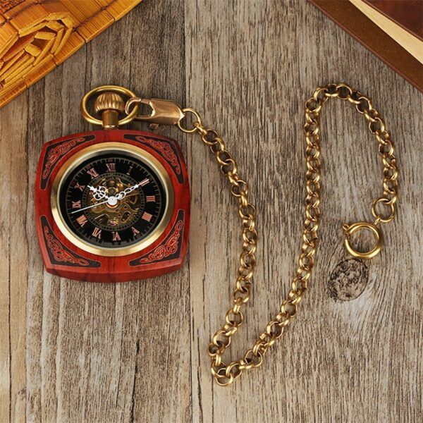 The Lincolnshire Mens Wooden Pocket Watch UK 5