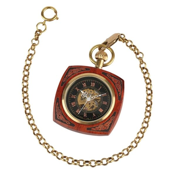 The Lincolnshire Mens Wooden Pocket Watch UK 7