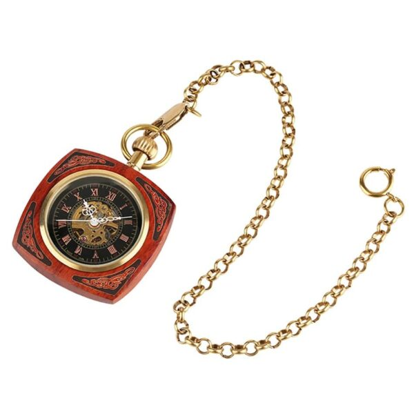 The Lincolnshire Mens Wooden Pocket Watch UK 8