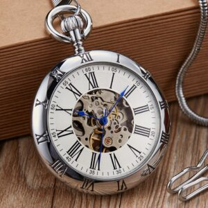 The Hertfordshire Silver Open Face Pocket Watch UK 6