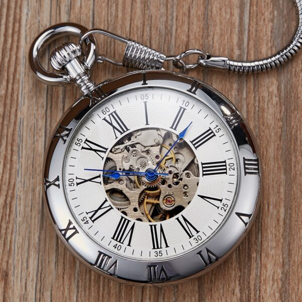 The Hertfordshire Silver Open Face Pocket Watch UK 7