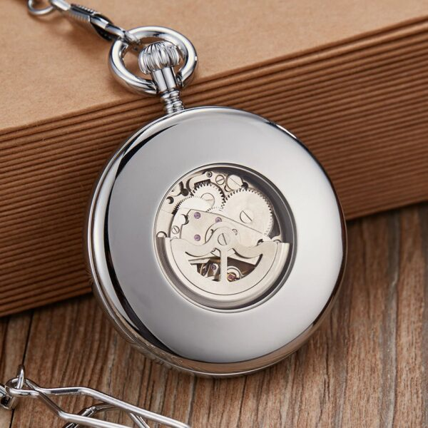 The Hertfordshire Silver Open Face Pocket Watch UK 8