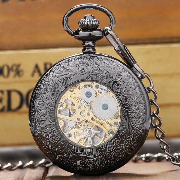 The Humberside Black Pocket Watch UK 3