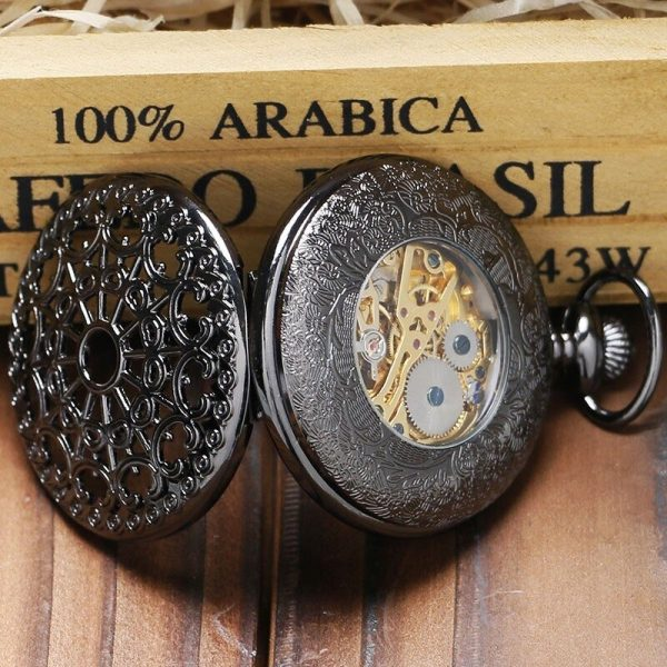 The Humberside Black Pocket Watch UK 4